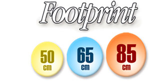 Footprint Diameter 50 cm - 65 cm - 85 cm