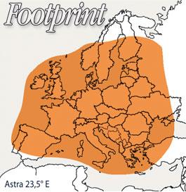 Footprint Astra 23,5°E